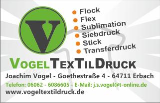 Vogel Textildruck