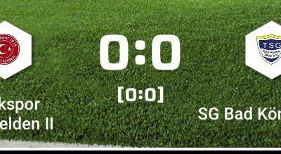Unsere 1b spielt 0 : 0 bei Türk. Beerfelden ll